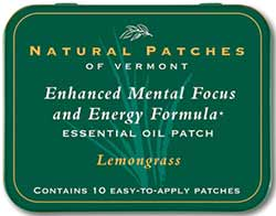 Natural Patches of Vermont Lemongrass Mental Focus & Energy Formula