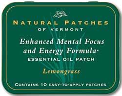 Natural Patches of Vermont Lemongrass Mental Focus & Energy Formula