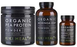 Kiki Energy Bundle - Organic Moringa Leaf Powder, Organic Goji Berry Powder, Organic Pea Protein Powder