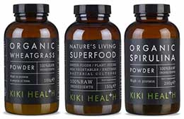 Super Greens Bundle - Natures Living Superfood, Organic Wheatgrass Powder, Organic Spirulina Powder